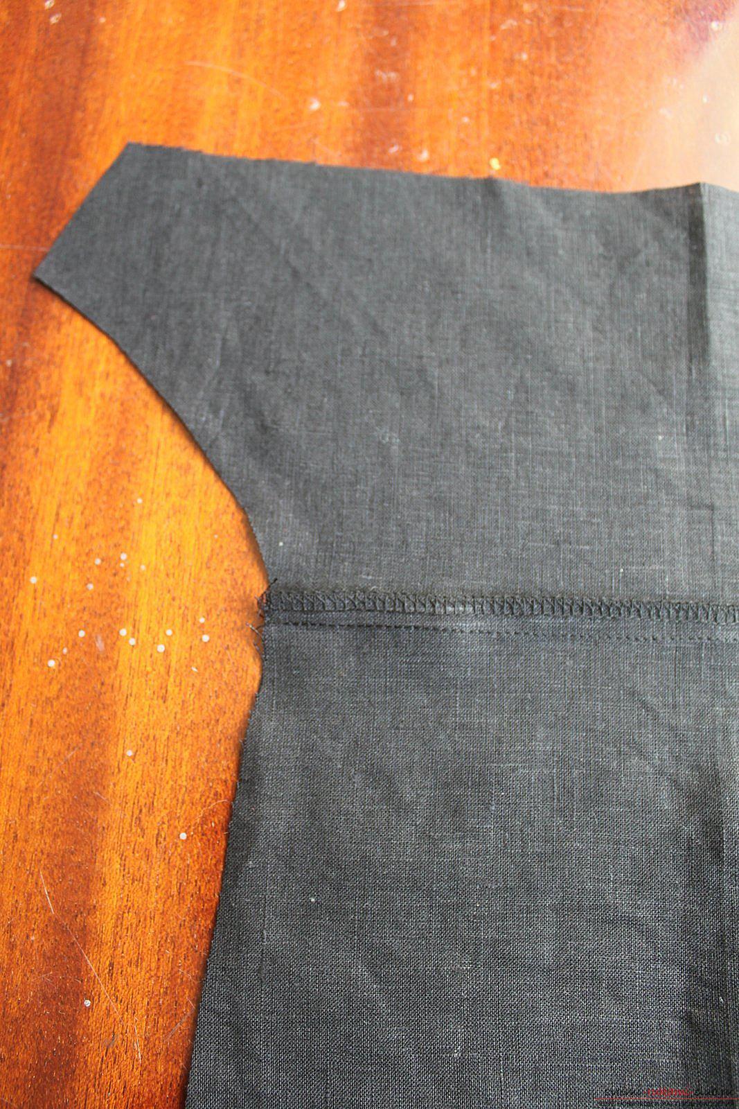 Этот подробный мастер-класс с фото и описанием научит как сшить своими руками платье из льна.. Фото №9