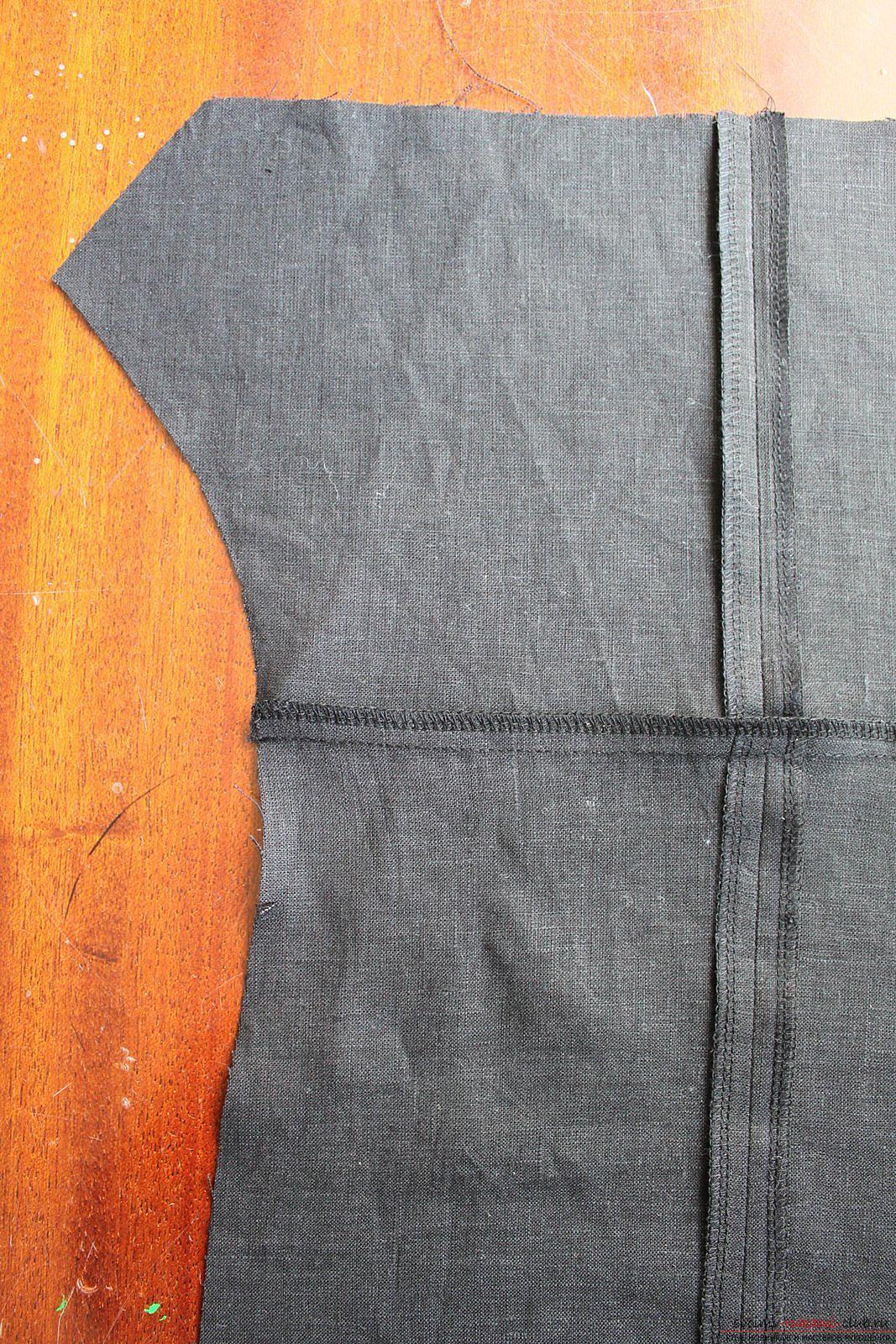 Этот подробный мастер-класс с фото и описанием научит как сшить своими руками платье из льна.. Фото №10