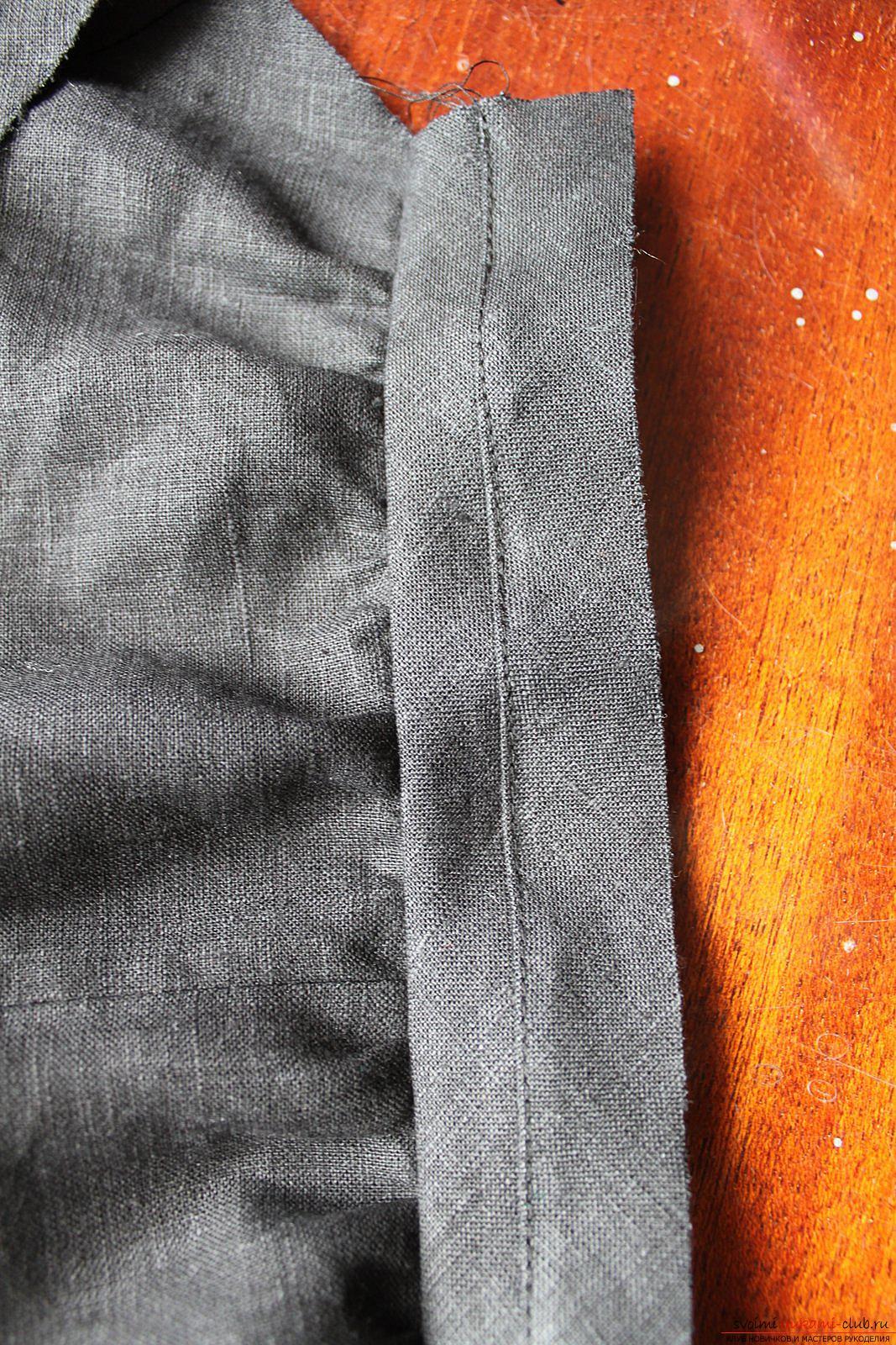 Этот подробный мастер-класс с фото и описанием научит как сшить своими руками платье из льна.. Фото №27