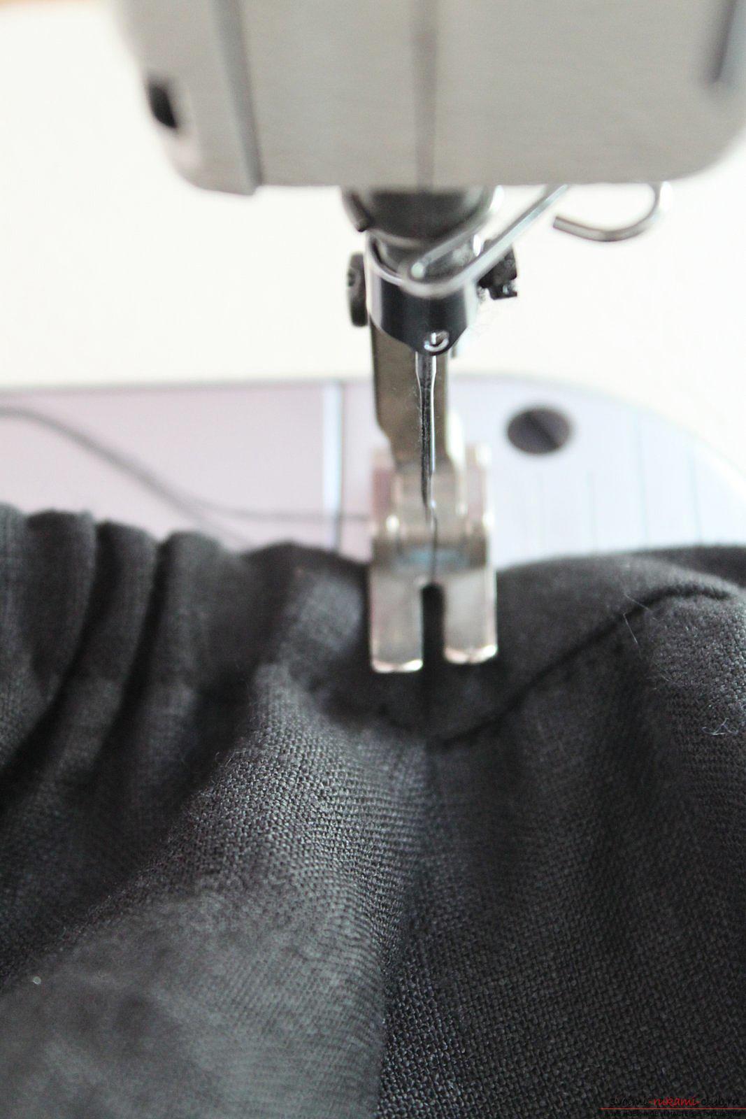 Этот подробный мастер-класс с фото и описанием научит как сшить своими руками платье из льна.. Фото №37