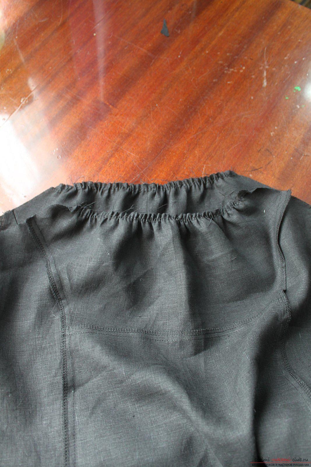 Этот подробный мастер-класс с фото и описанием научит как сшить своими руками платье из льна.. Фото №24