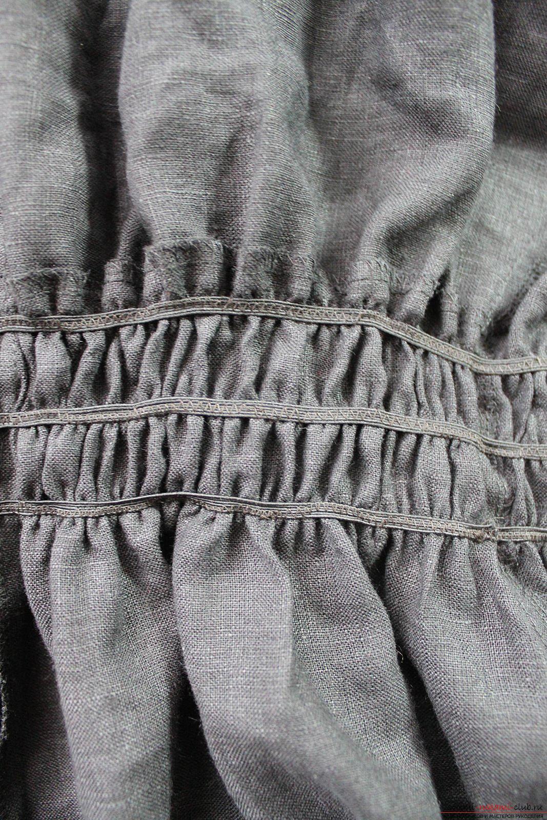 Этот подробный мастер-класс с фото и описанием научит как сшить своими руками платье из льна.. Фото №40