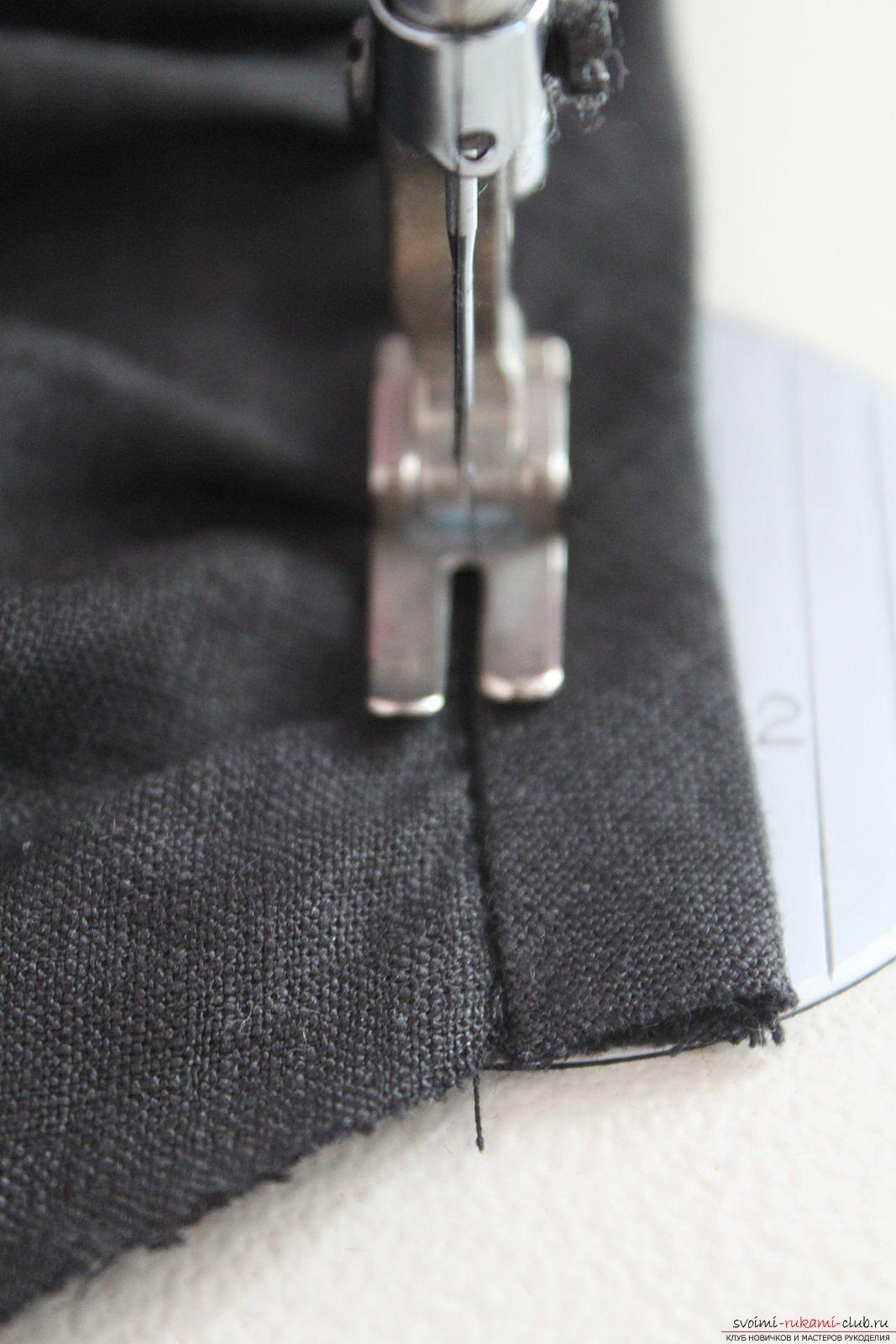 Этот подробный мастер-класс с фото и описанием научит как сшить своими руками платье из льна.. Фото №29
