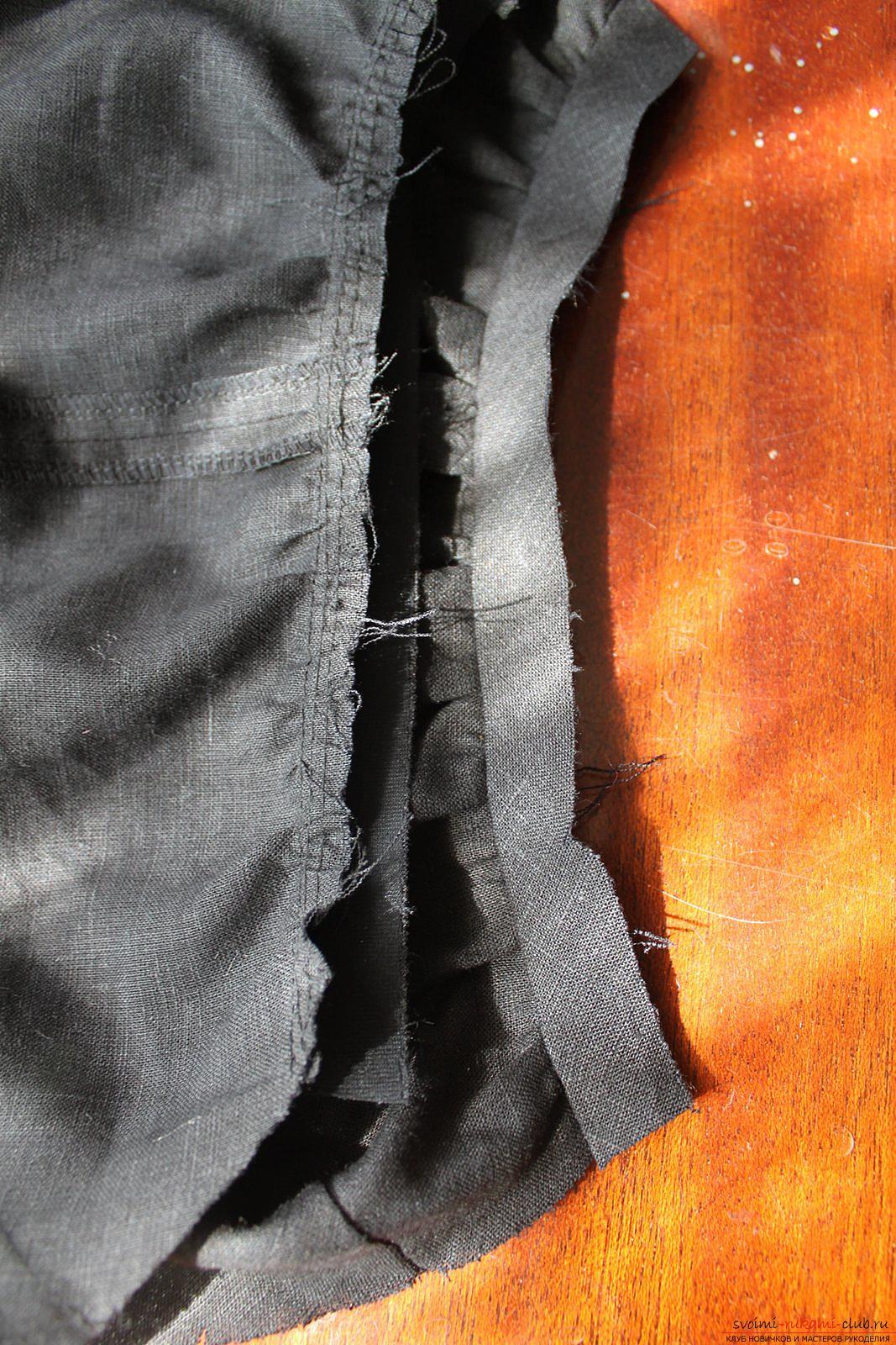 Этот подробный мастер-класс с фото и описанием научит как сшить своими руками платье из льна.. Фото №25
