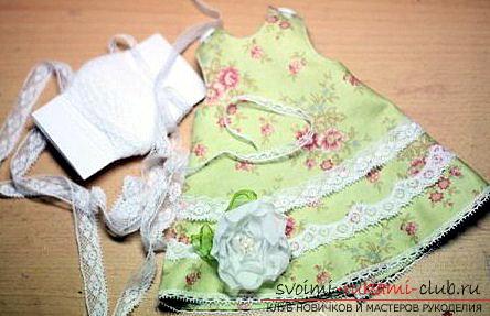 Создаём выкройку и приступаем к пошиву платья для тильды
