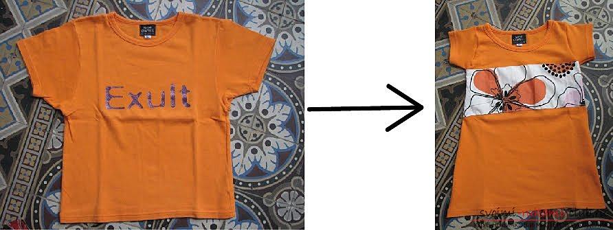 Шить платье из футболки и