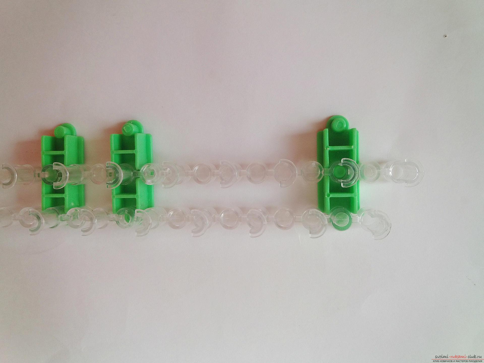 Плетение браслетов на станке пошагово фото