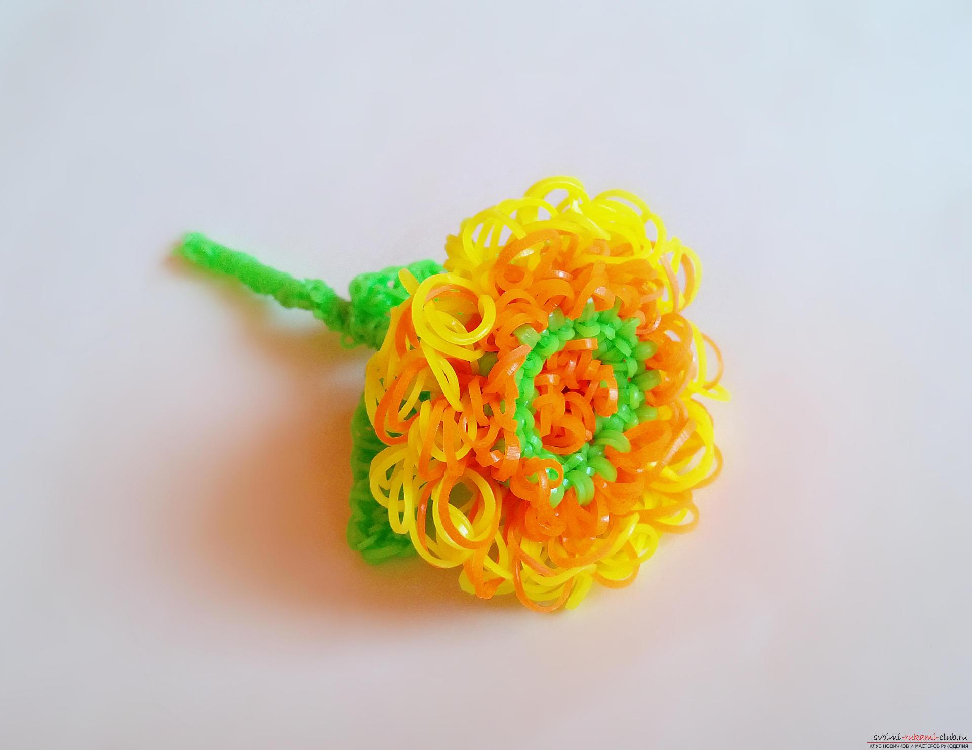Мастер класс цветок из резинок