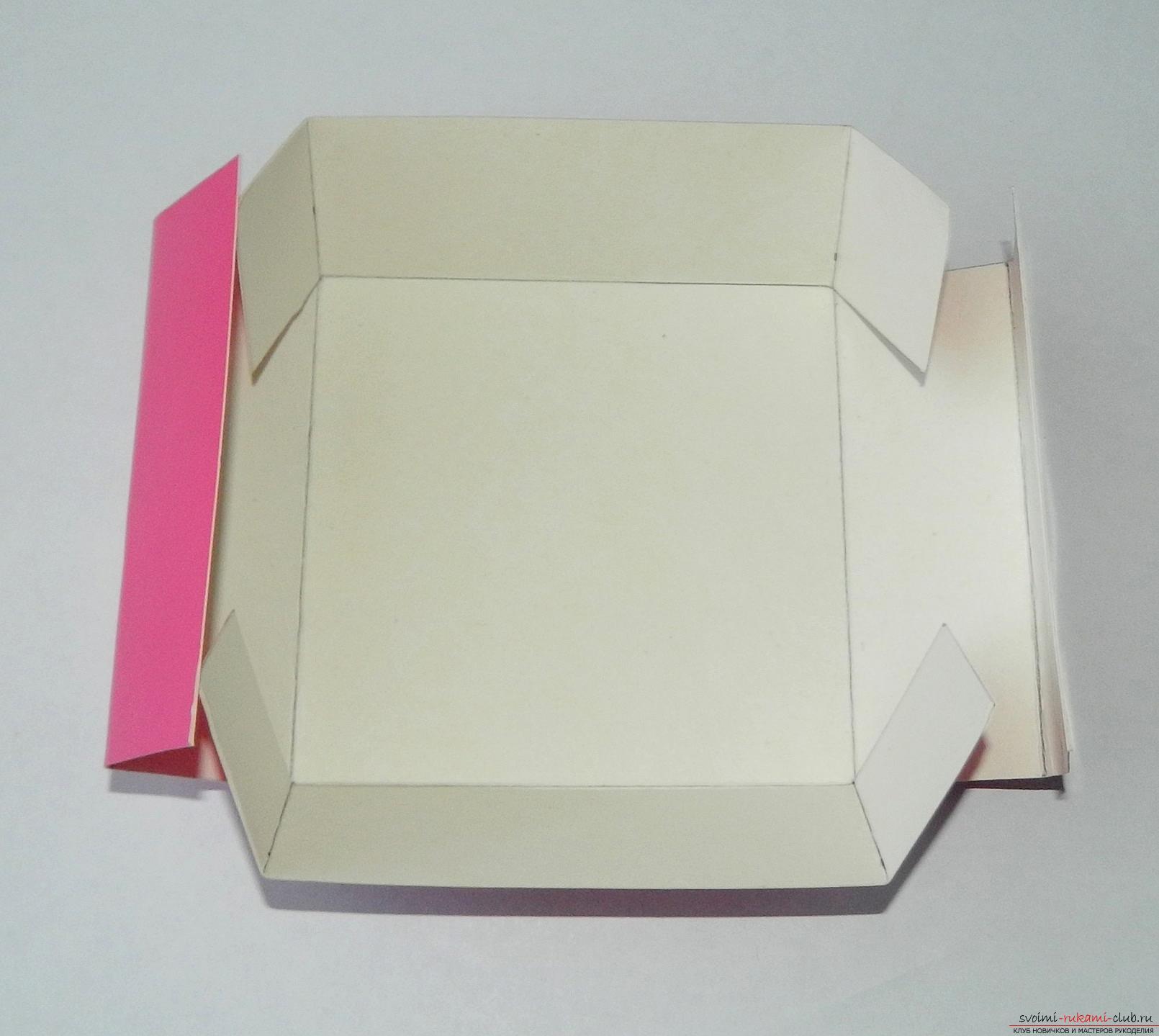 Как сделать квадратную коробку из картона 14