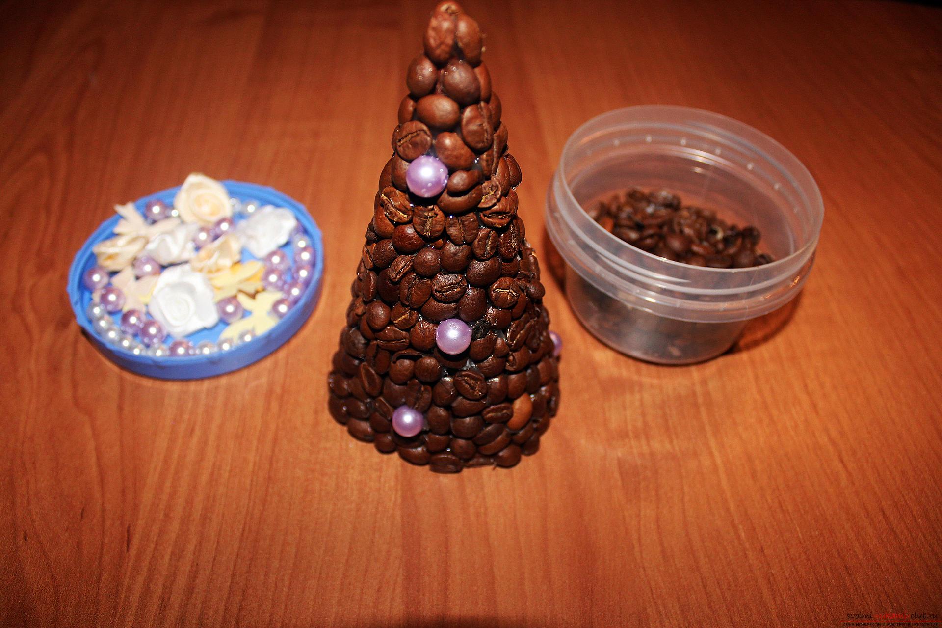Новогодние поделки из кофейных зерен своими руками фото
