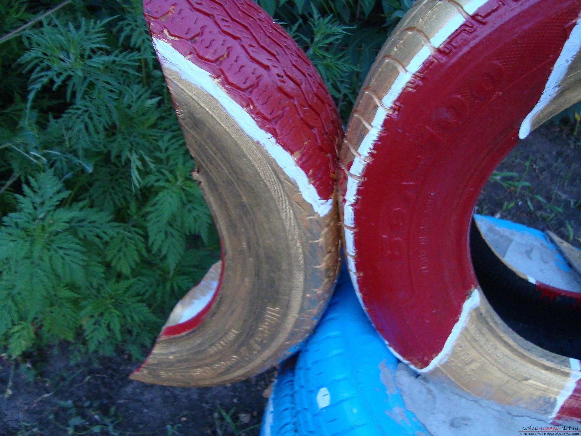 Поделки из старых шин и покрышек. Подборка Фотографий 65