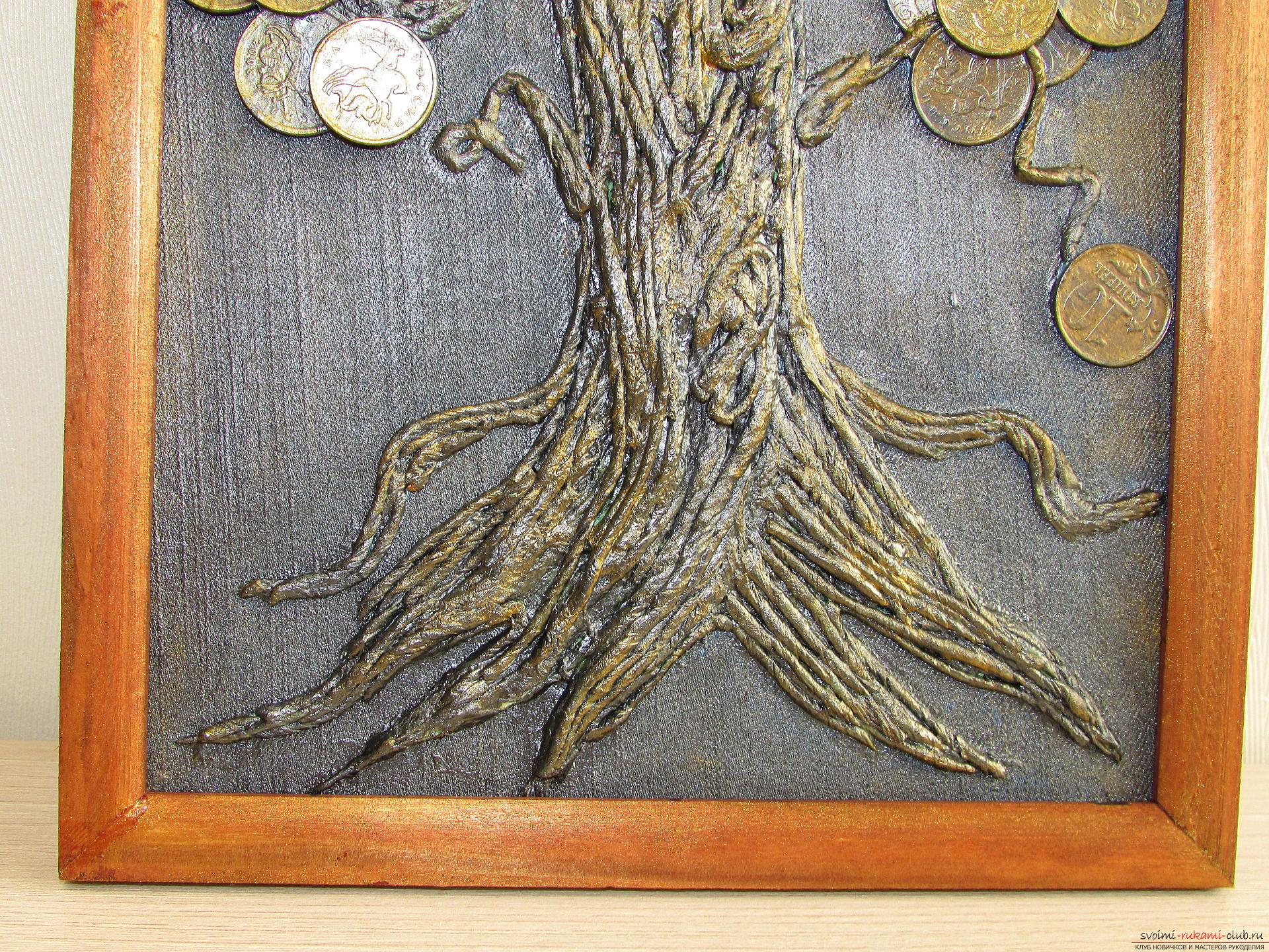 Мастер-класс покажет как сделать денежное дерево из монет своими руками.. Фото №19