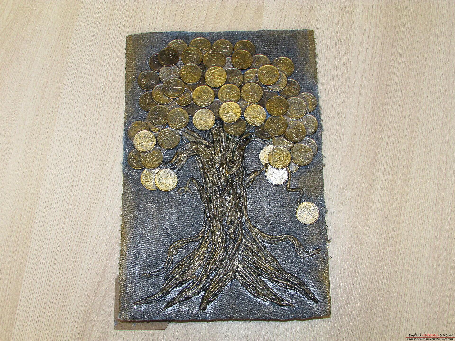 Мастер-класс покажет как сделать денежное дерево из монет своими руками.. Фото №16