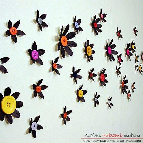 Картина бабочки сделана своими руками