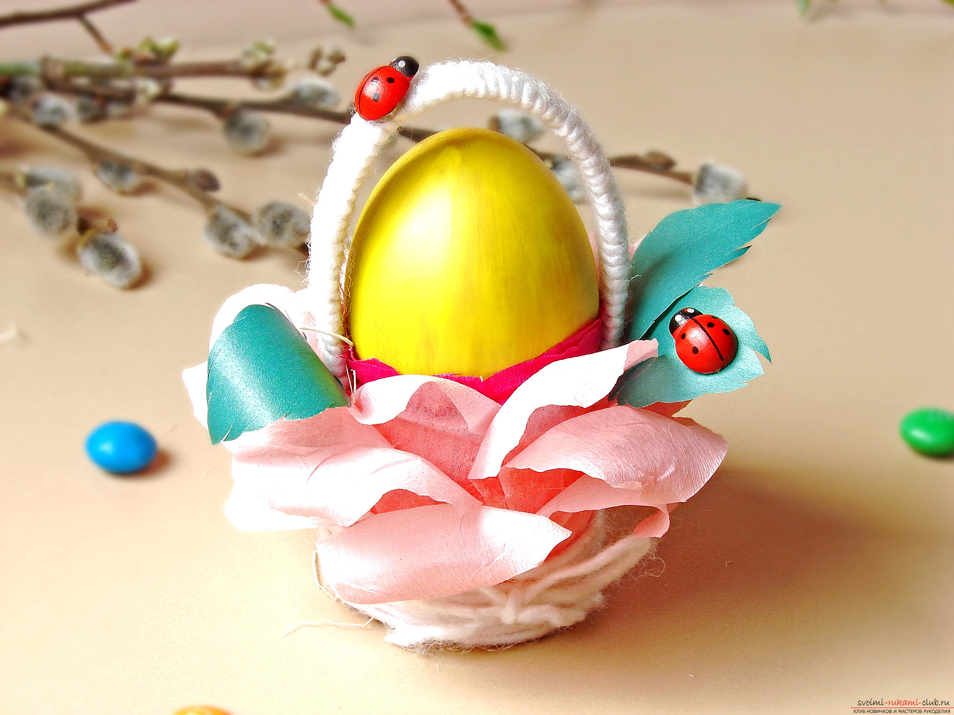 Поделка пасхальное яйцо своими руками ребенку в детский сад 62