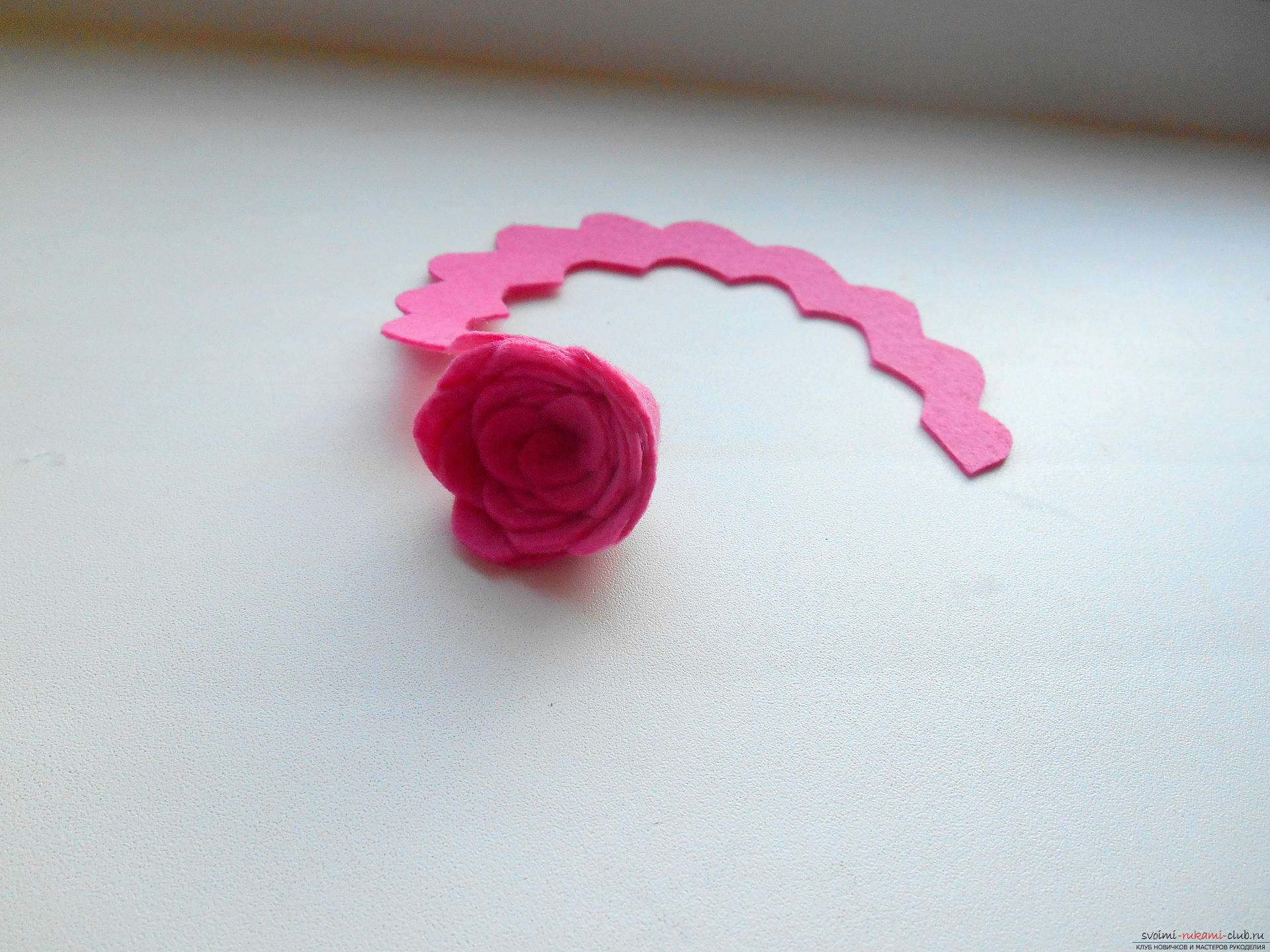 Розы из фетра мастер класс фото