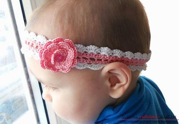 Юбка и повязка на голову для девочки. . Для резинки крючком... Связать повязку на голову крючком - Модно в России
