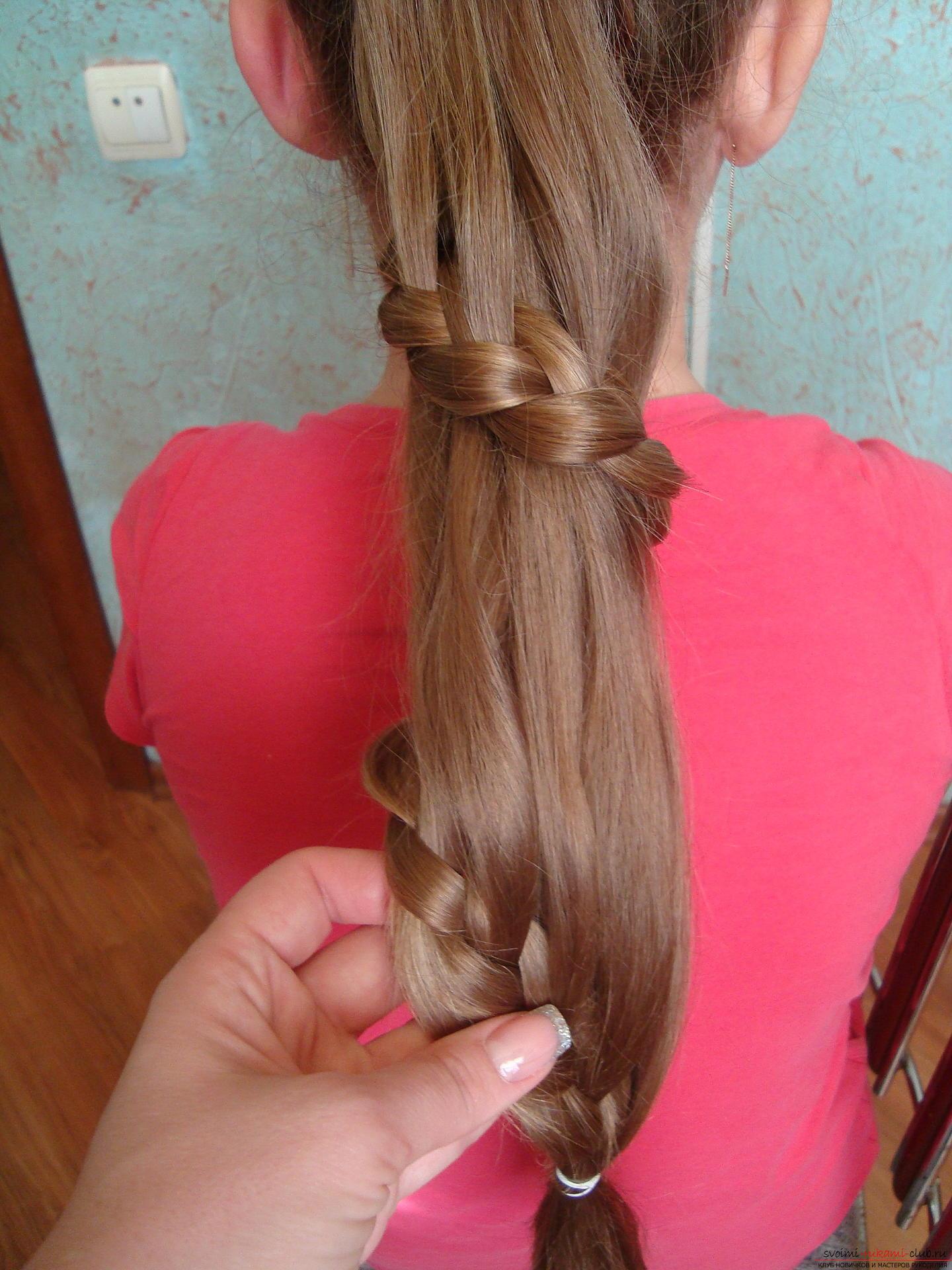 Прически для девочек из длинных волос мастер класс