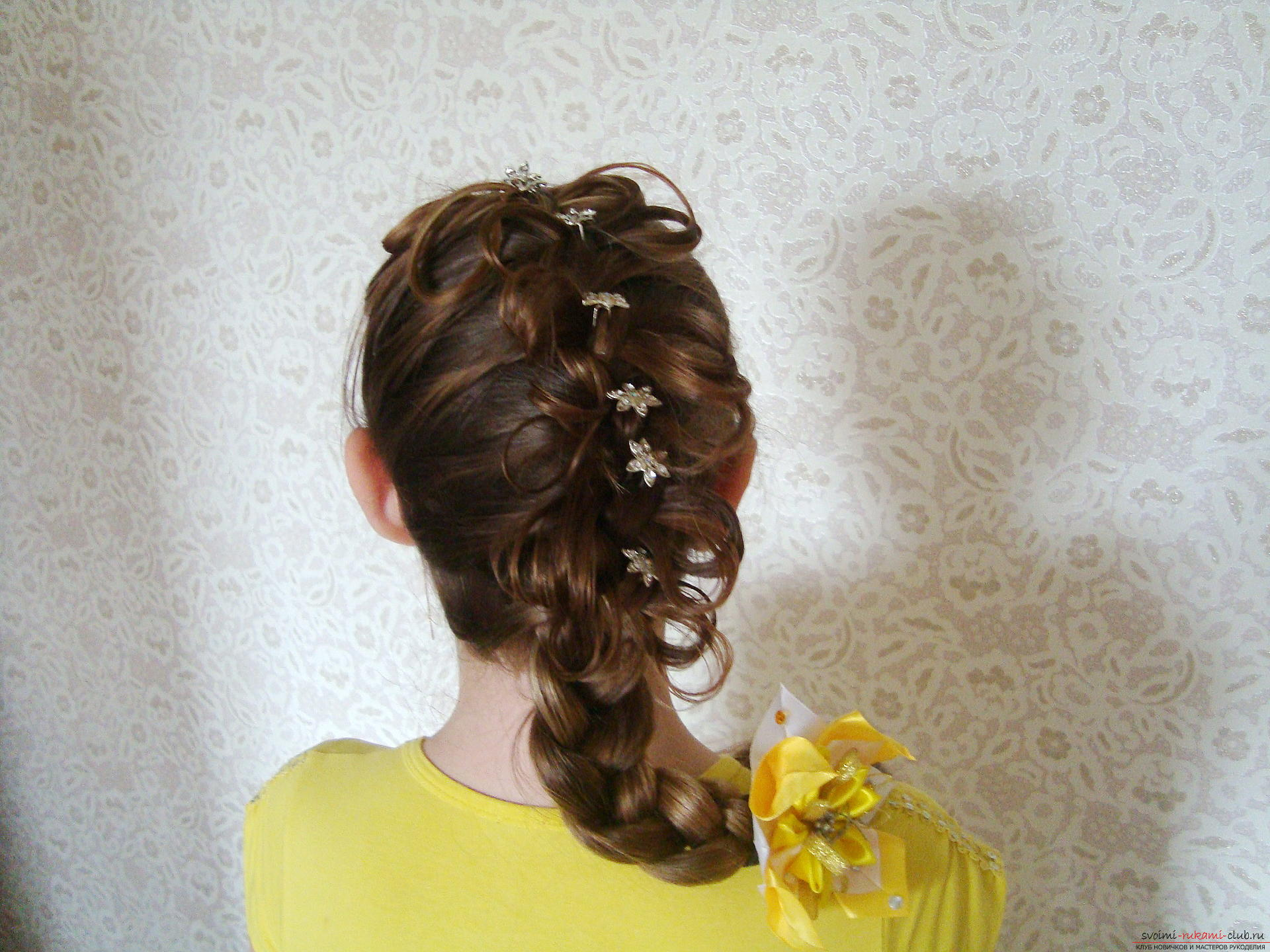 Прически на длинные волосы фото на торжество своими руками