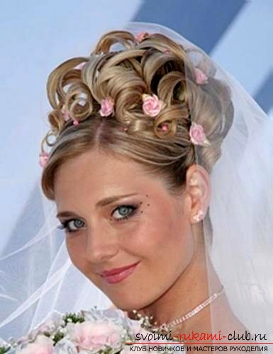 Как сделать блестящую прическу для очаровательной невесты своими руками