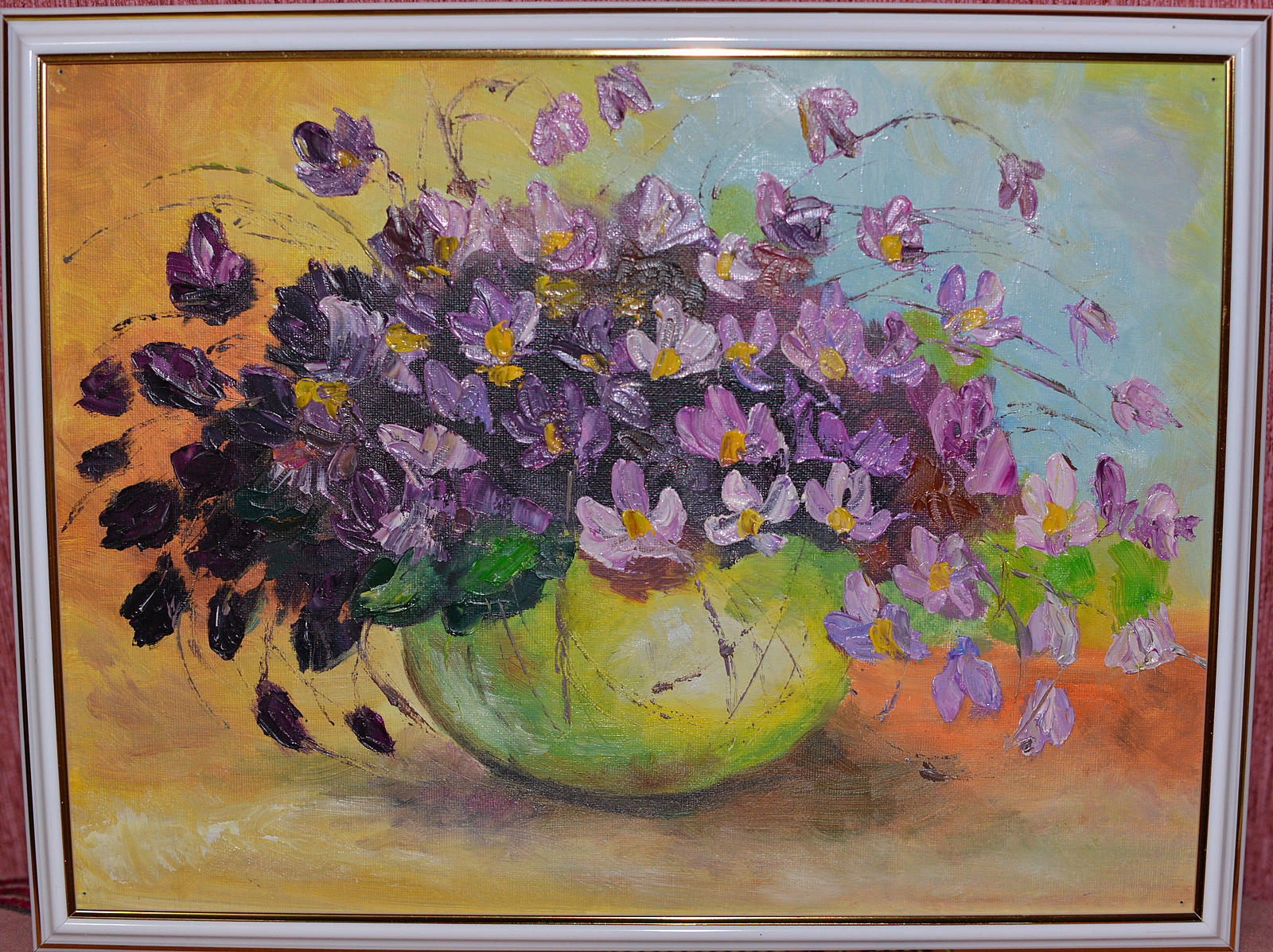Картины цветов маслом своими руками