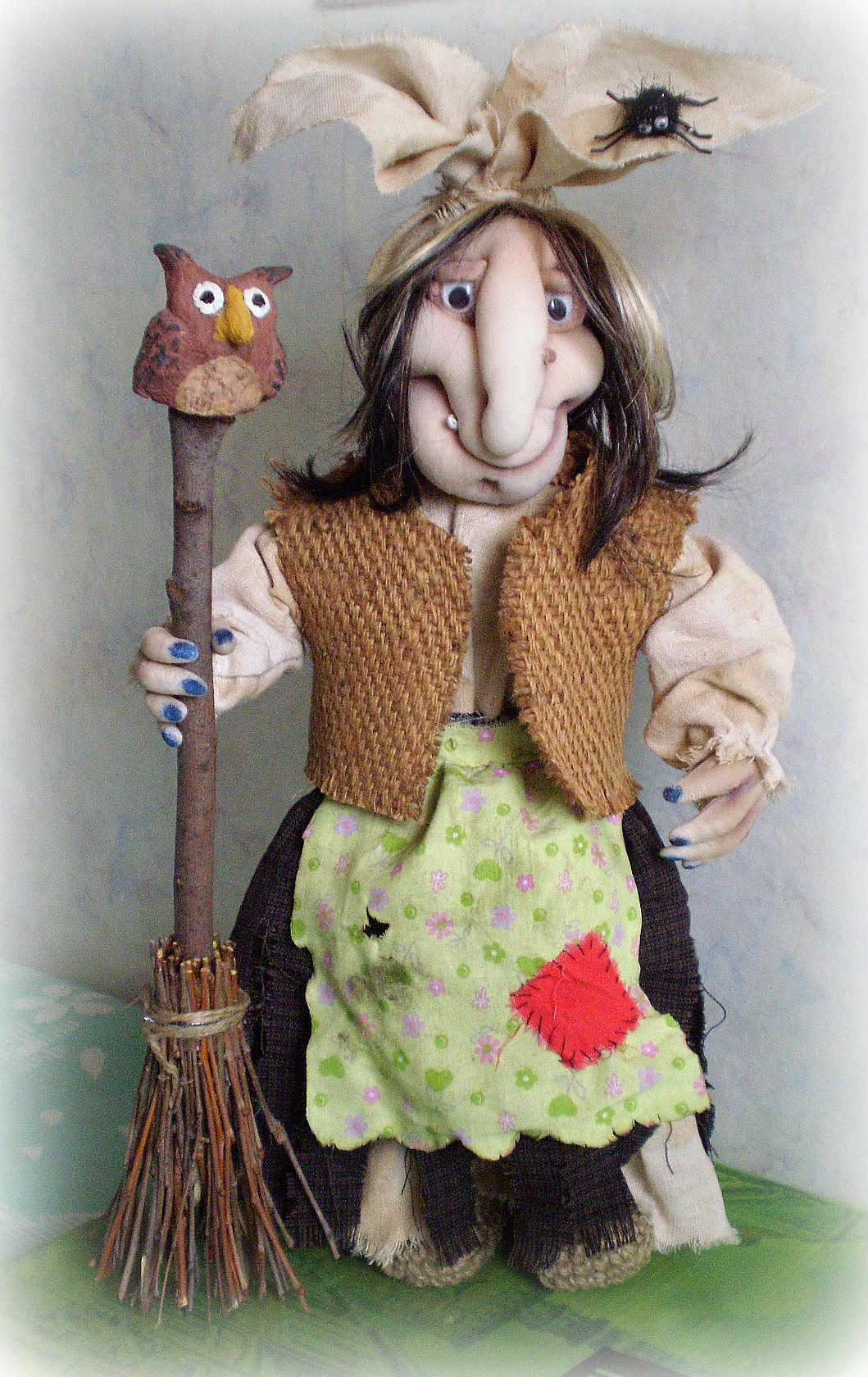 Кукла на руку баба яга своими руками 32
