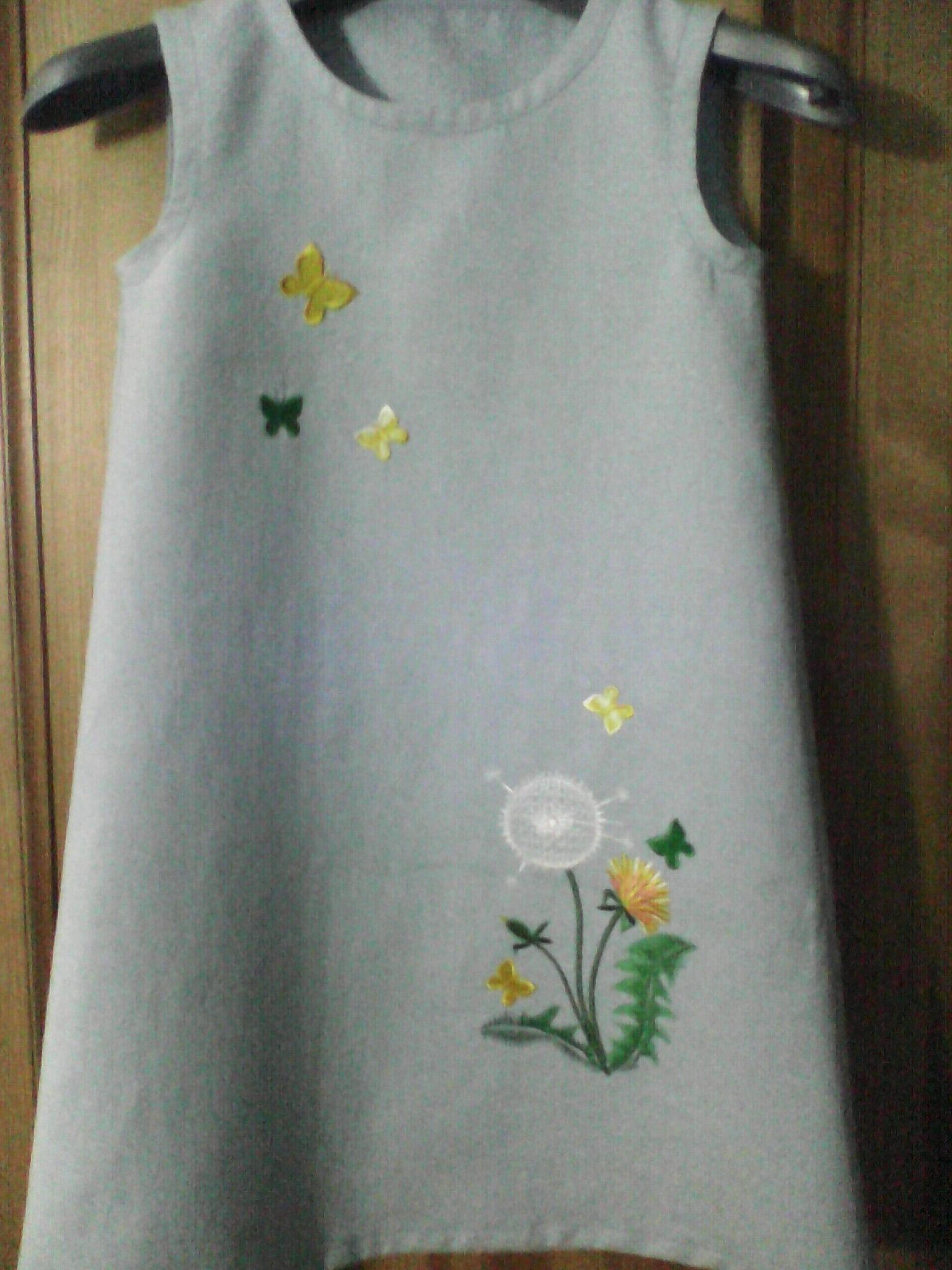 Машинная вышивка на платьях