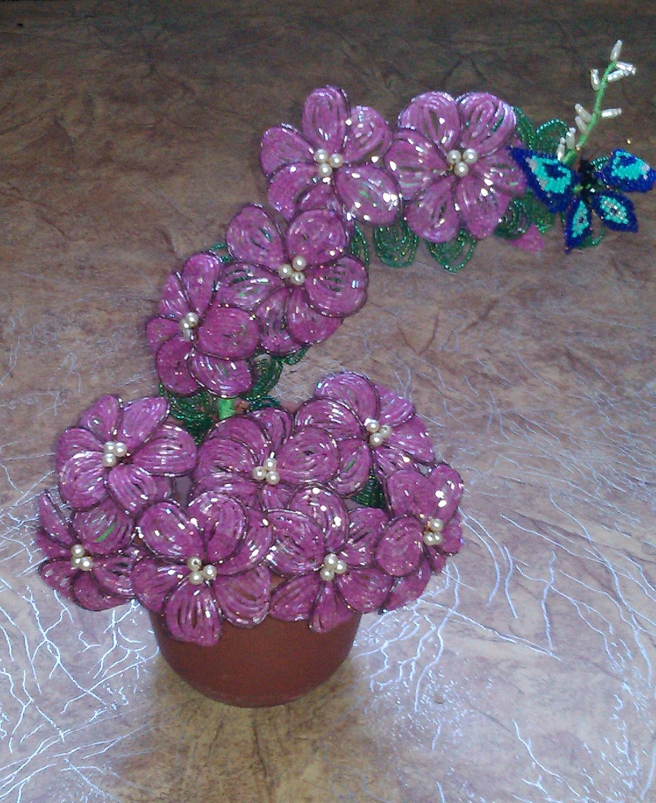 Фото поделки из бисера цветы 155