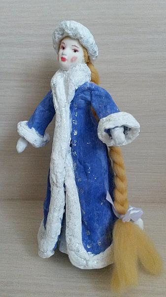 Ватная игрушка Снегурочка ручна