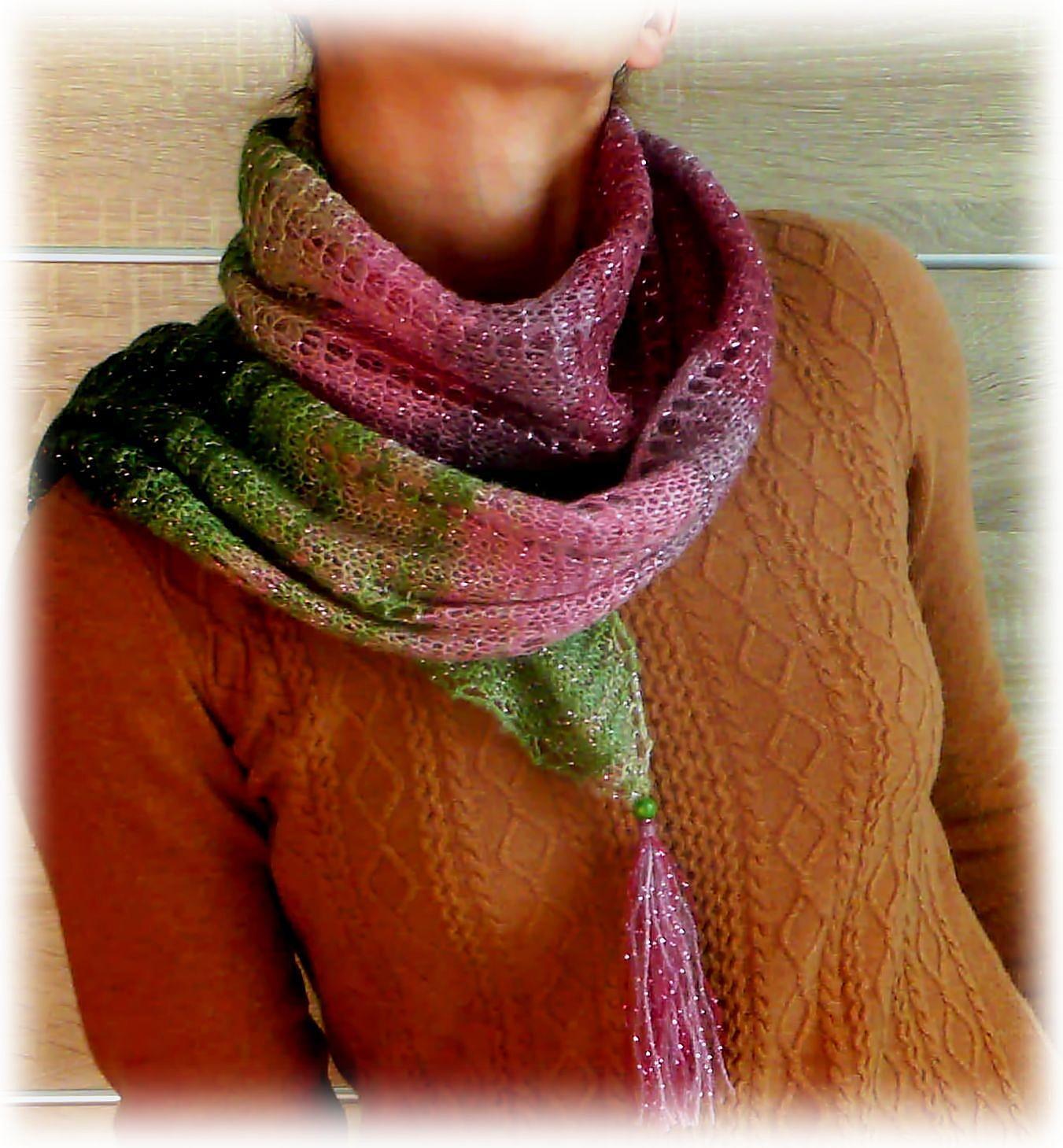 Вязаный шарф своими руками фото