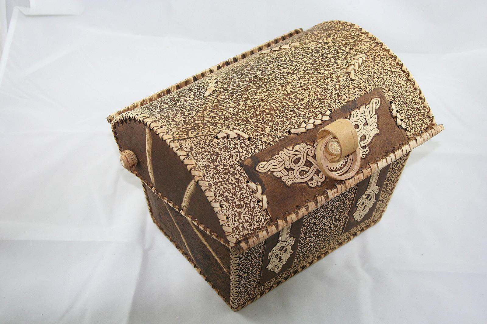Новомодные изделия из бересты – оригинальная шкатулка и берестяной короб