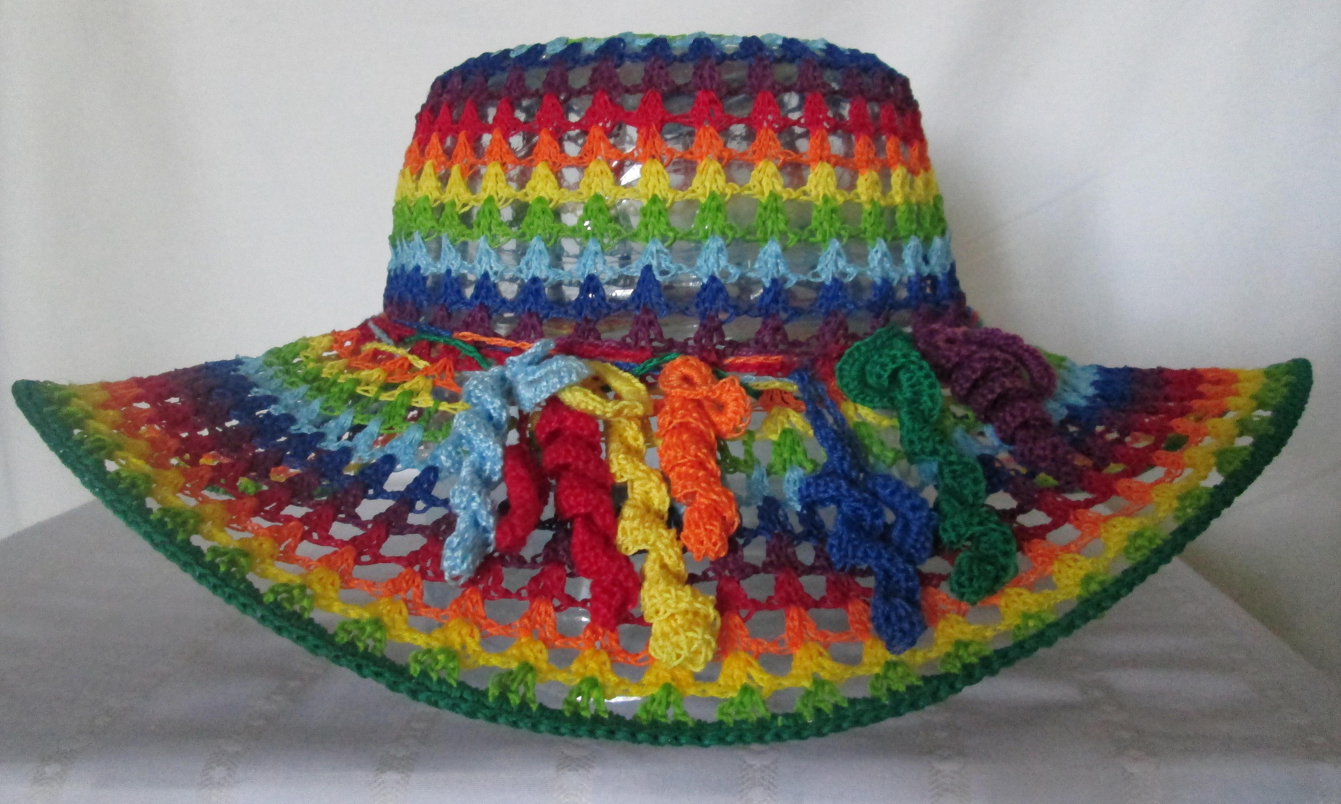 Вязанные шляпы своими руками 67