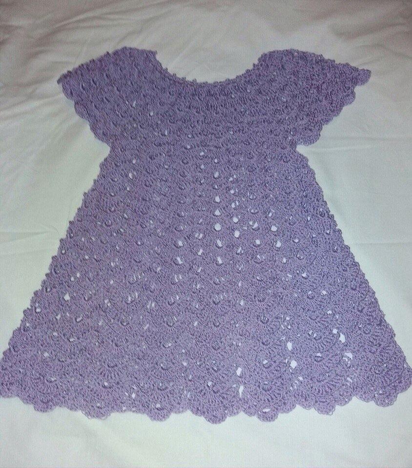 Вязание крючком для девочек 2-3 лет платья и юбки 181
