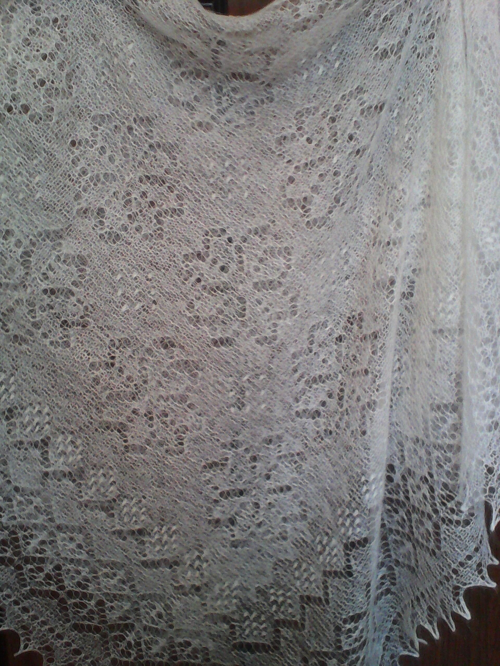 Оренбургский платок-паутинка сделано своими руками