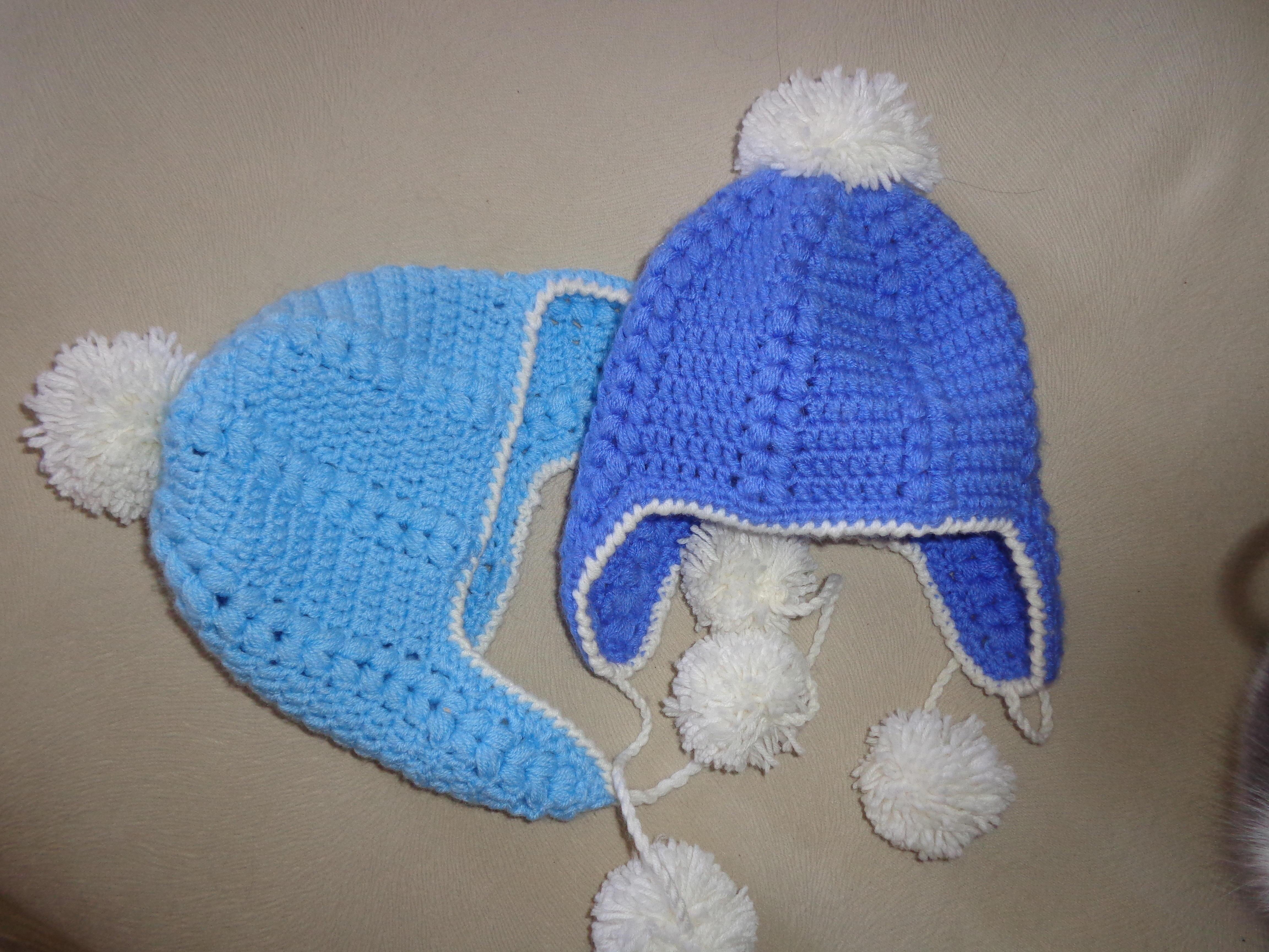 Вязаные шапочки для новорожденных своими руками