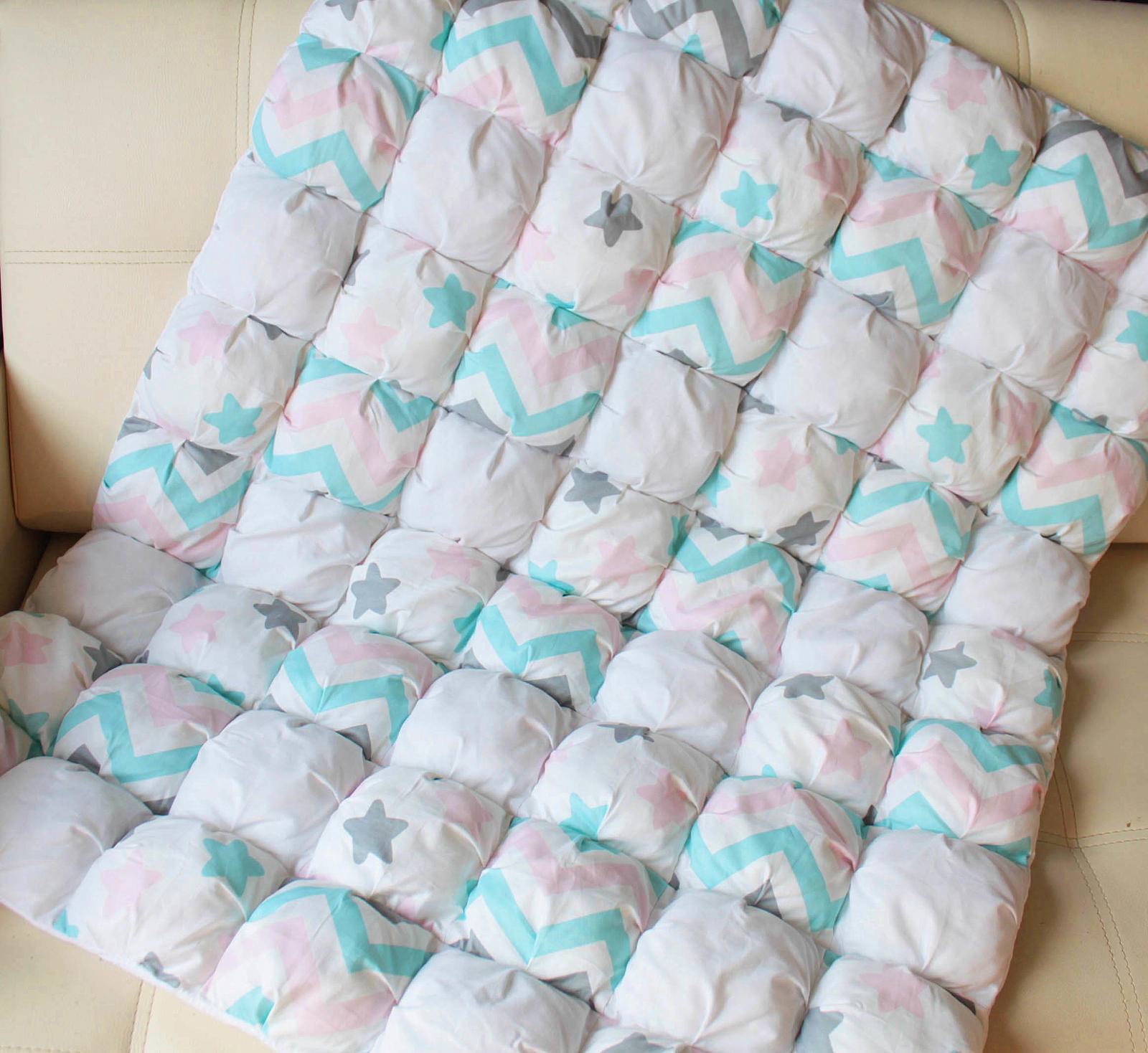 Одеяло детское зефирное сделано своими руками Анна, работы ...