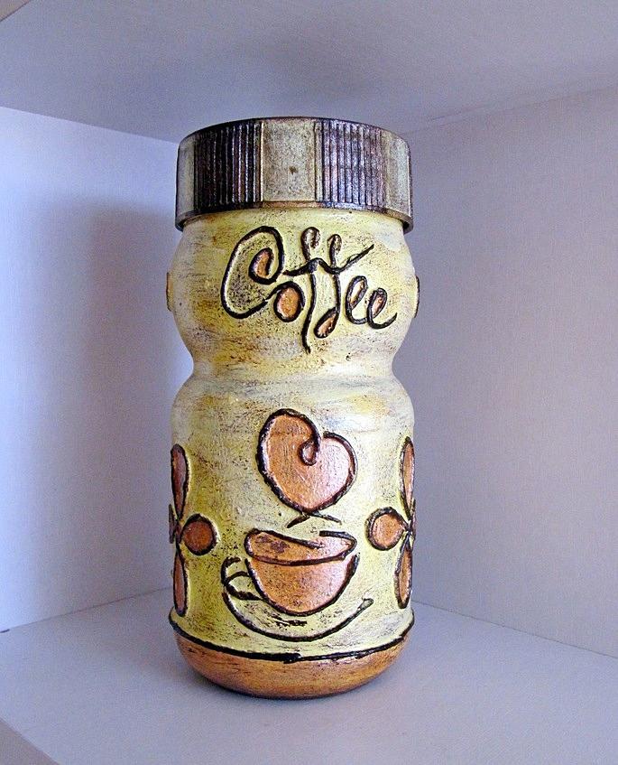 Украшение банок из под кофе своими руками 96