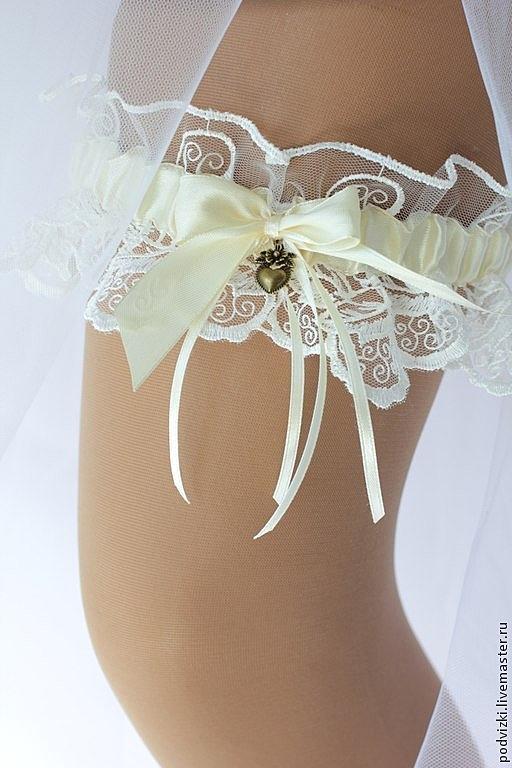 Подвязка невесты своими руками с кружевом 285