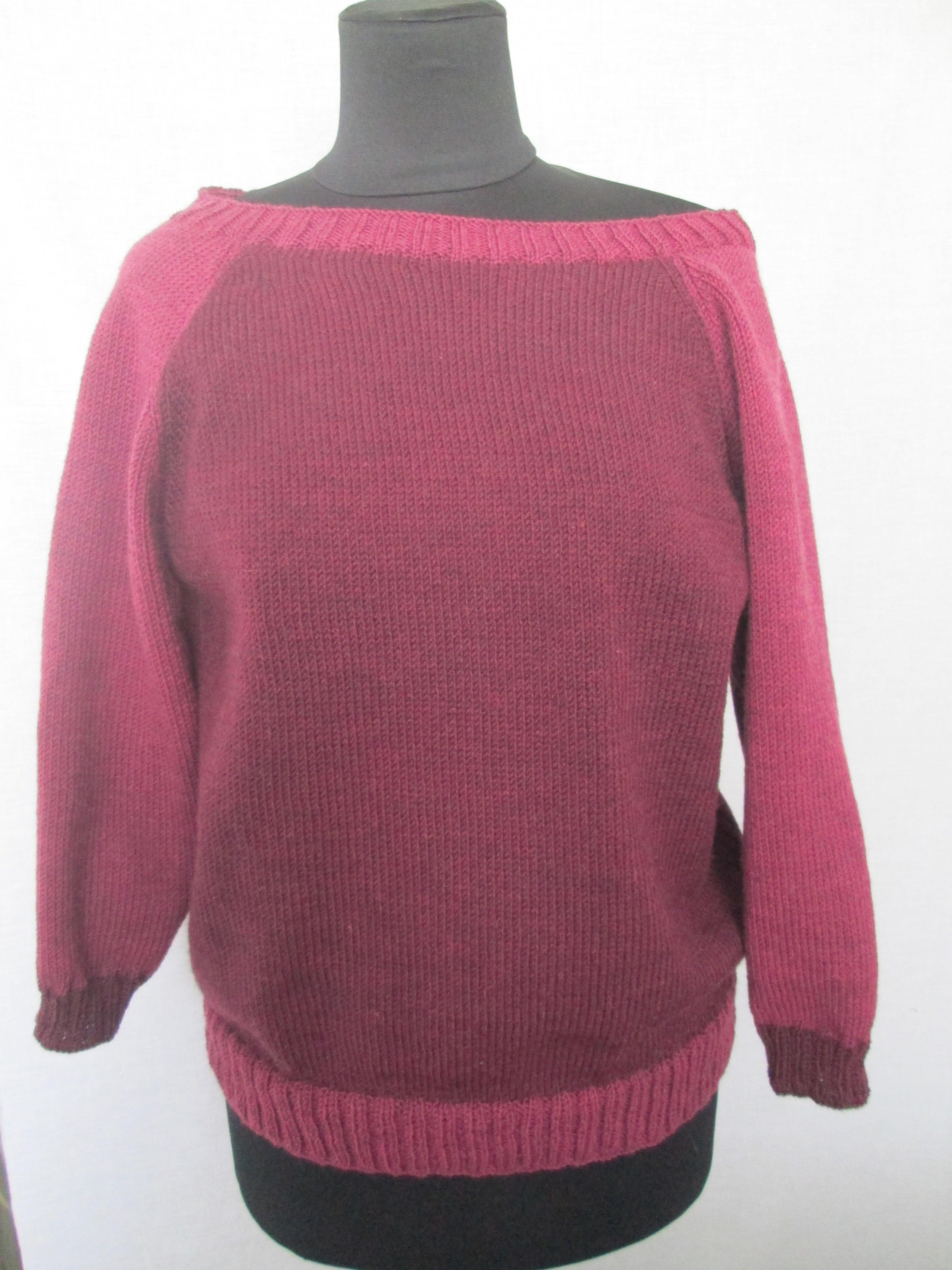 Двухцветный Пуловер Женский Доставка