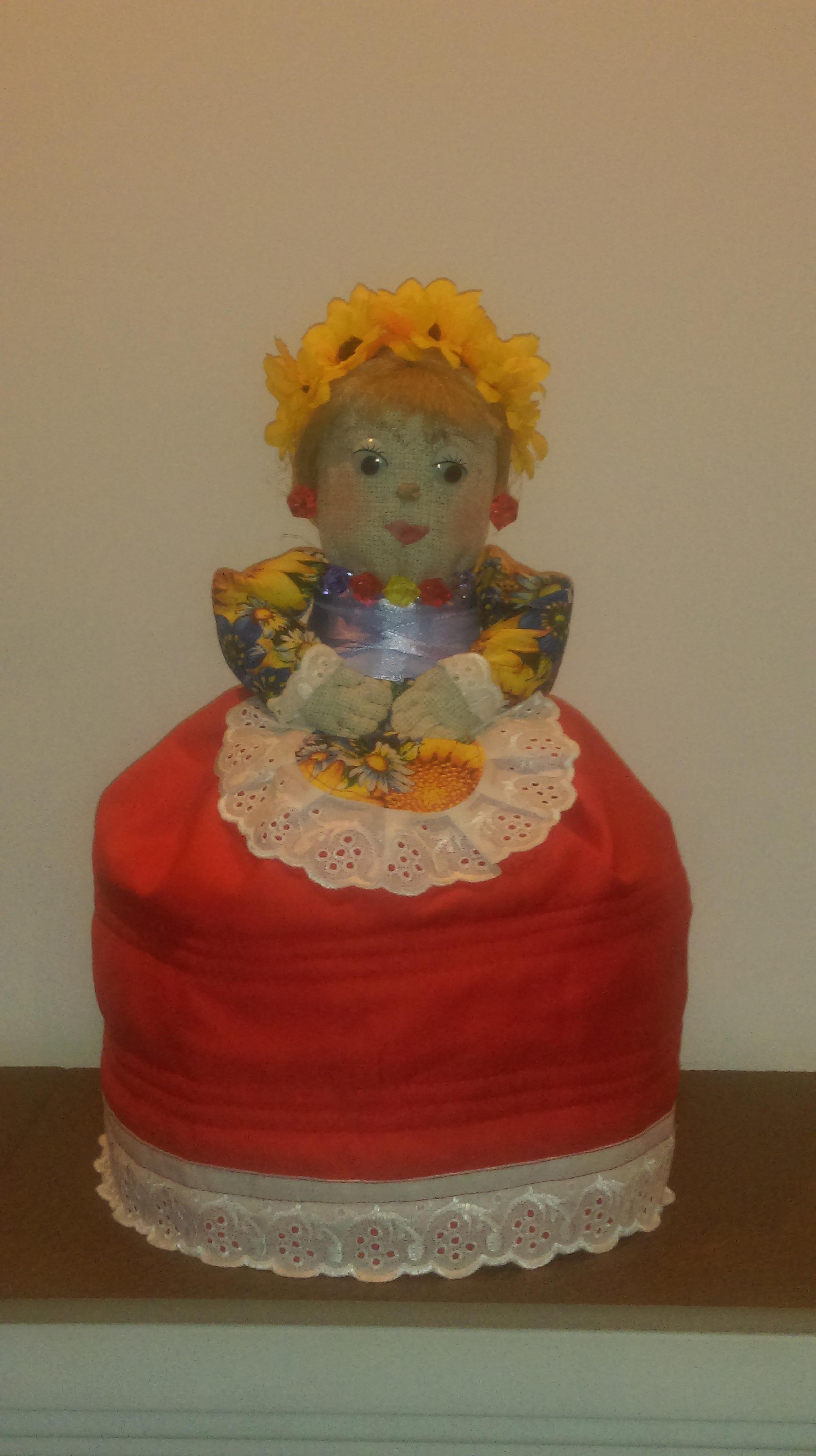 Вязаная кукла грелка на чайник своими руками 64