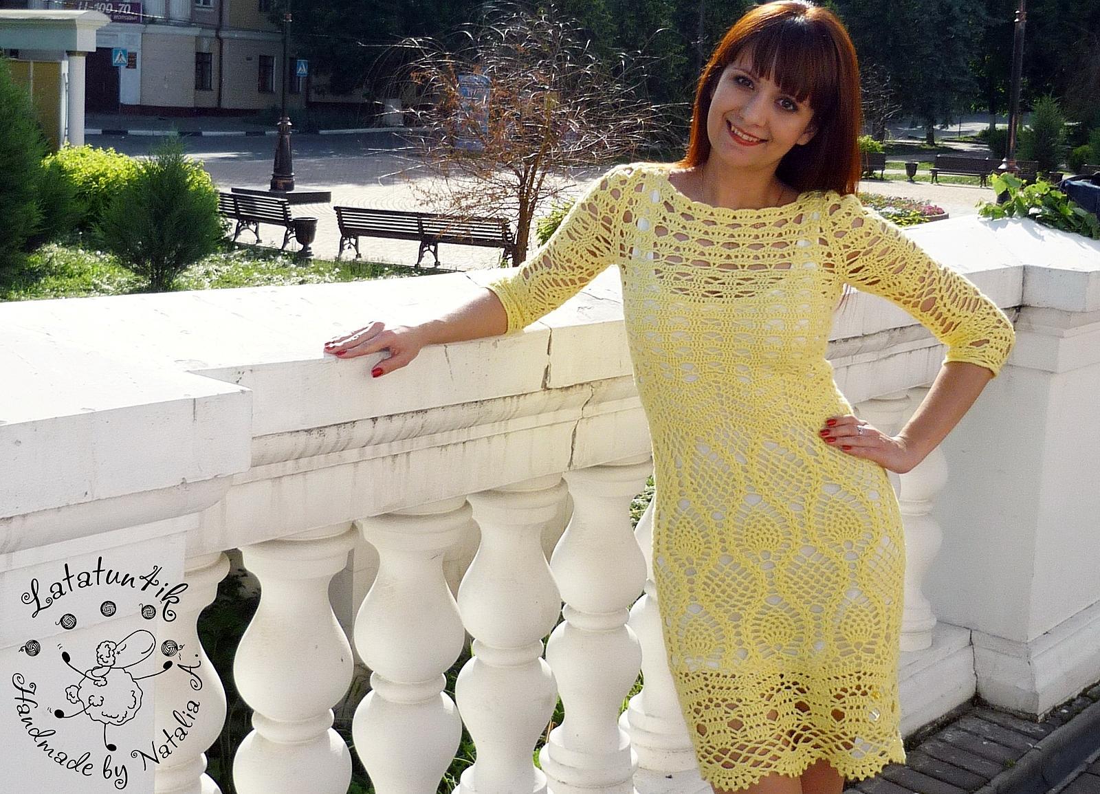 Платье Ананасовое лето сделано своими руками