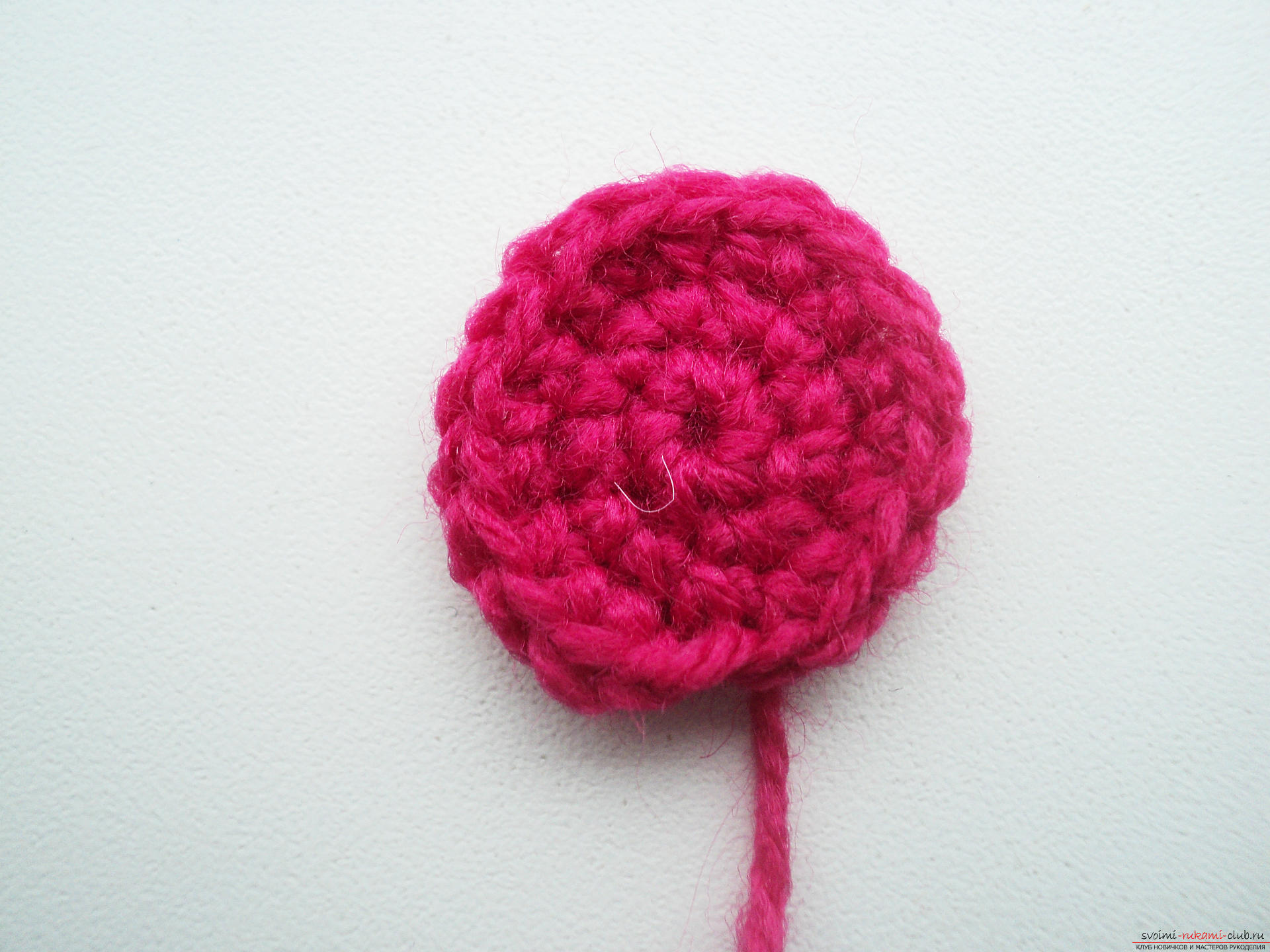 Вязание цветка розы крючком