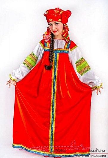 Выкройка русского народного сарафана своими руками. Фото №1