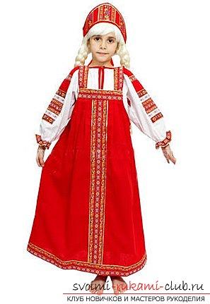 Русский сарафан для девочки своими руками