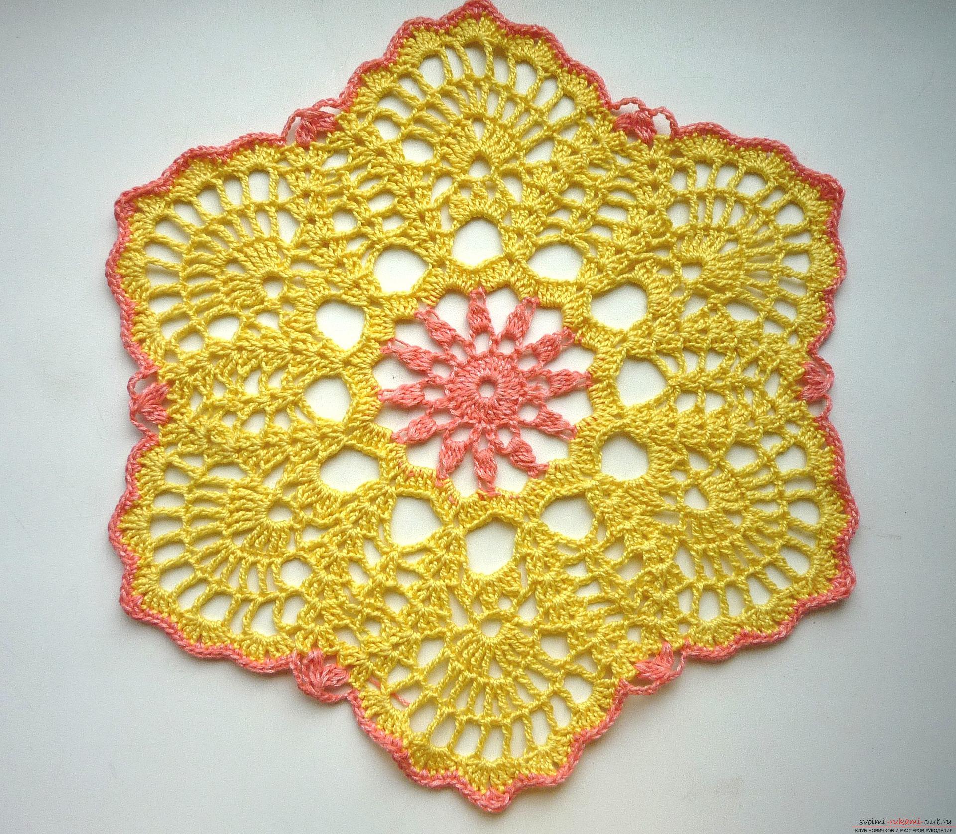 Простые схемы вязания шали