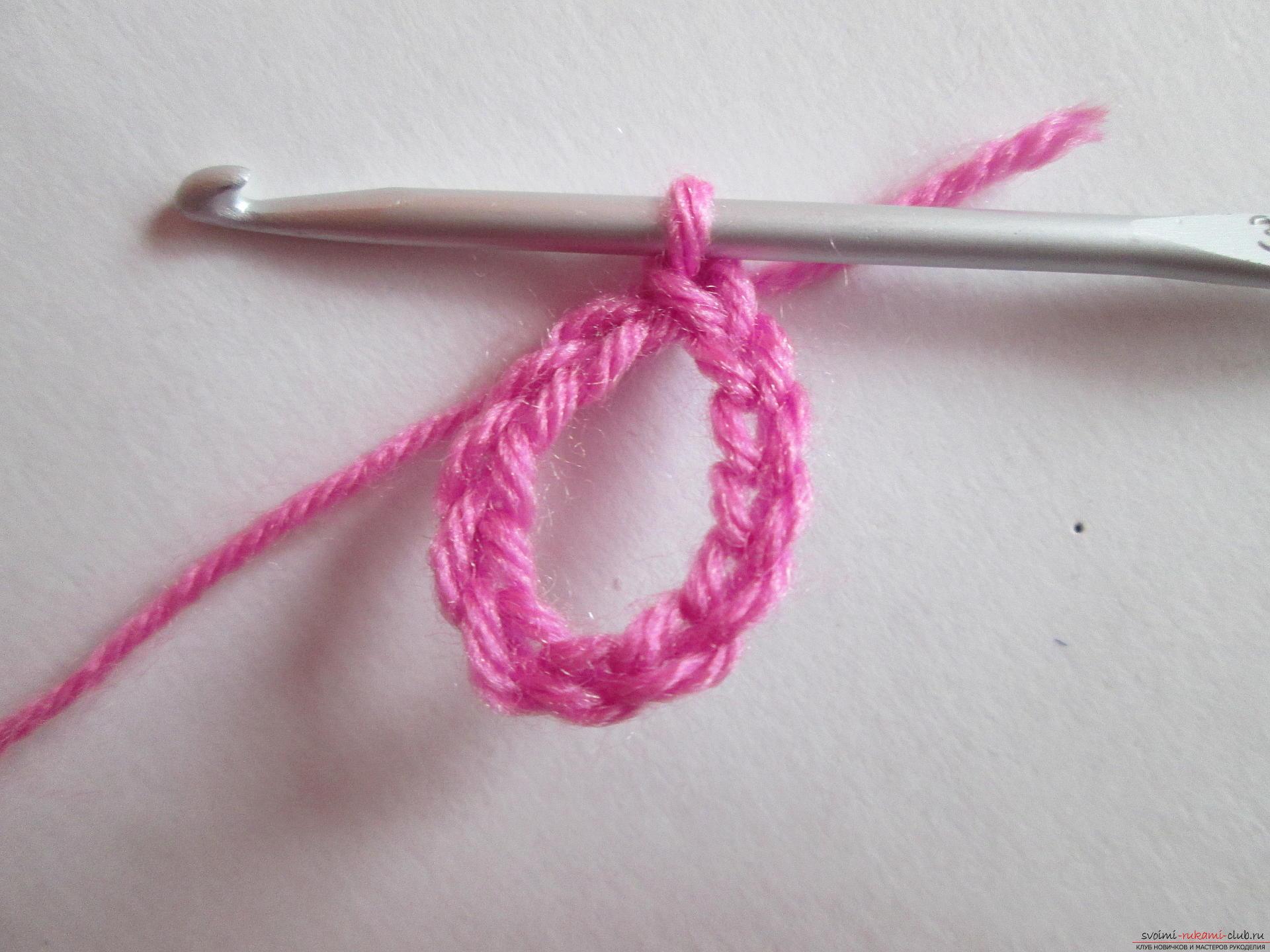 Вязание крючком для начинающих - фото, видео. 5 простых