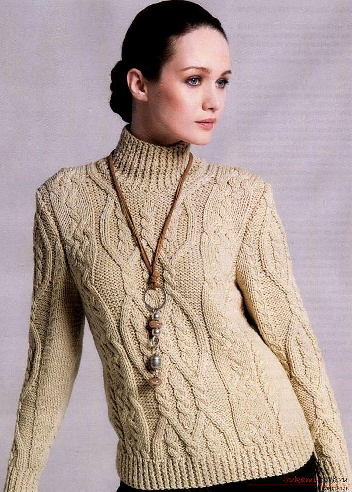 Вяжем теплый женский свитер