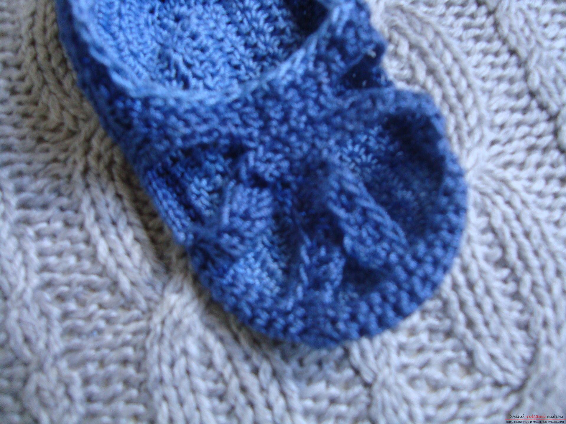 Фото к уроку по вязанию крючком детских сандалей. Фото №4