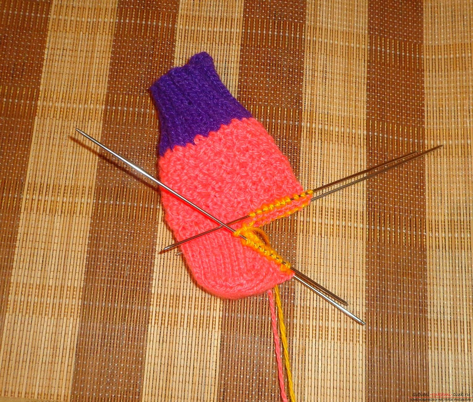 Видеоуроки вязания спицами носок для начинающих