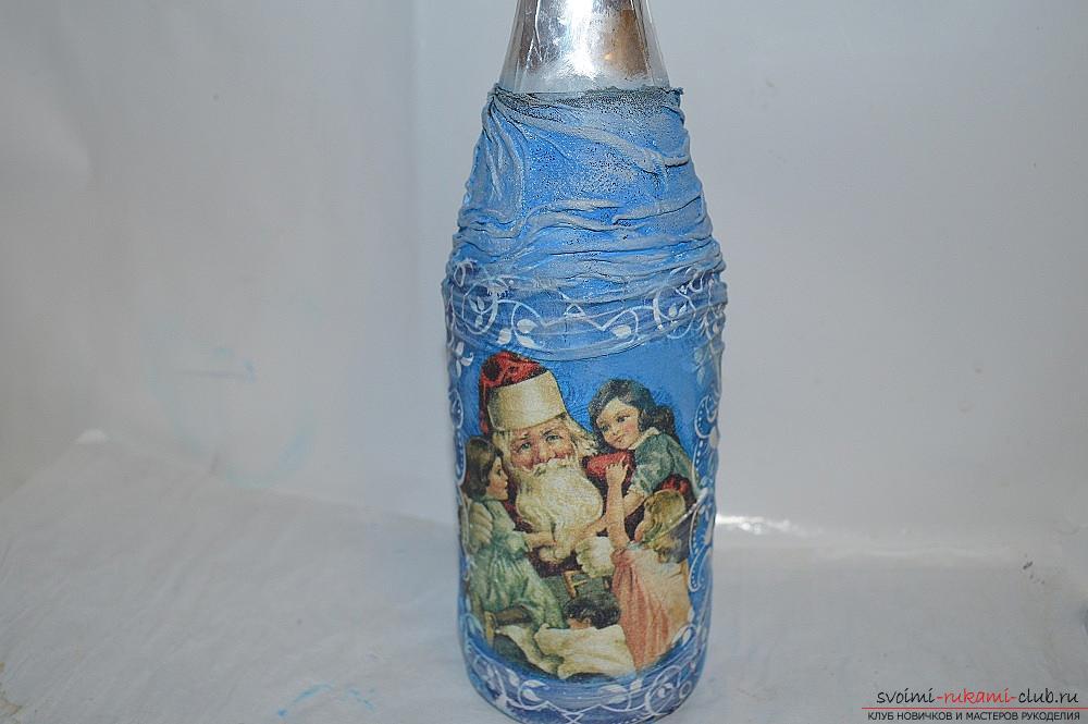 Фото к уроку по декупажу бутылки шампанского.</p> </div> <p> Фото №15″/> </p> <div style=